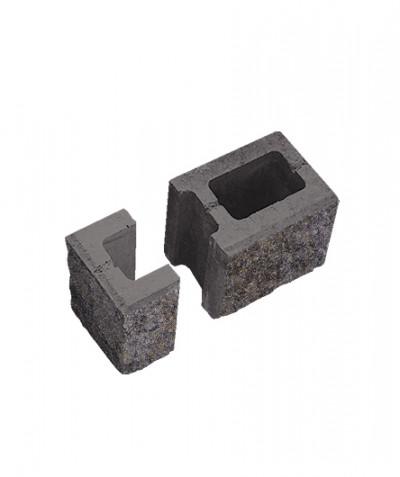 Блок пустотелый стеновой финишный. Доломит (комплект)