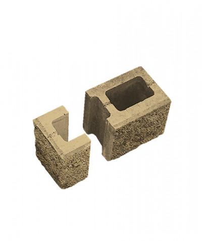 Блок пустотелый стеновой финишный. Песочный (комплект)