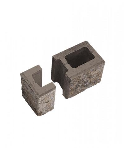 Блок пустотелый стеновой финишный. Степняк (комплект)