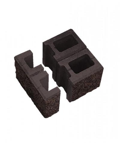 Блок пустотелый для колонн. Коричневый