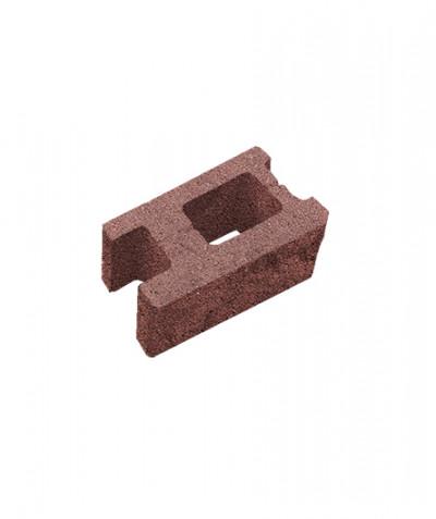 Блок пустотелый стеновой. Красный