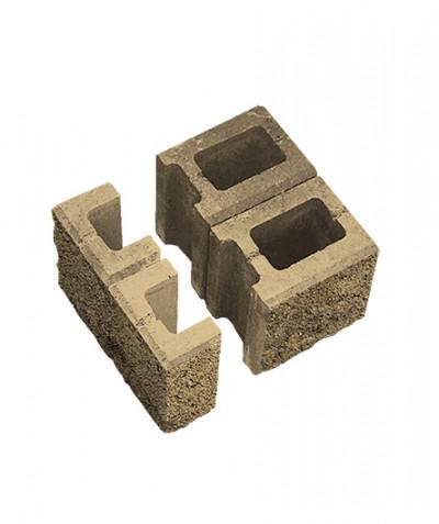 Блок пустотелый для колонн. Песочный