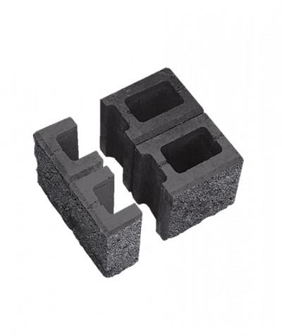Блок пустотелый для колонн. Серый